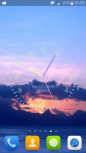 Clock Wallpaper Cloud style