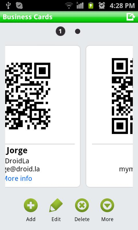 QR Droid Private™ - screenshot