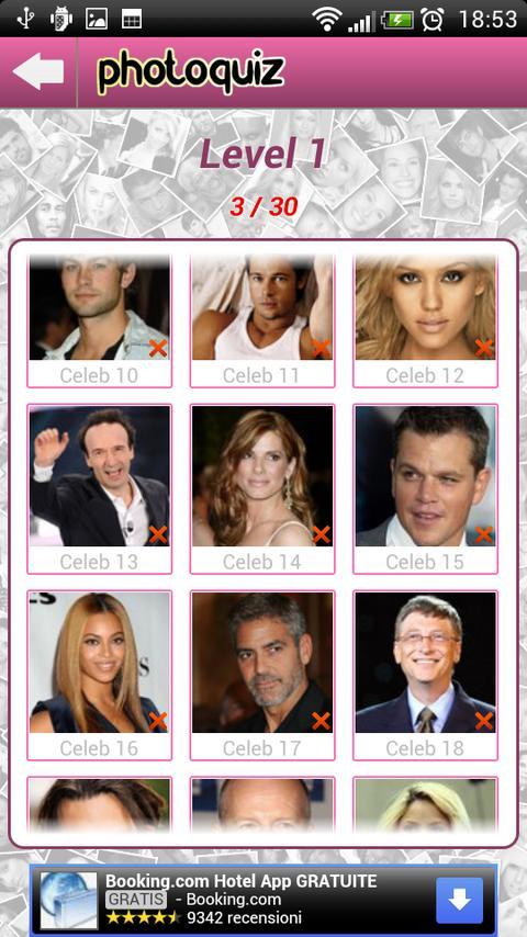 Photo Quiz Celebrity - screenshot
