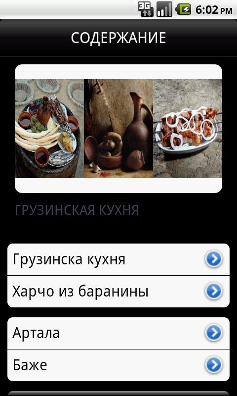 Грузинская Кухня - screenshot