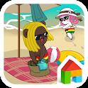 doodle vacance dodol theme icon
