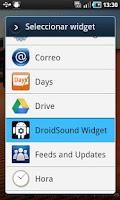 Screenshot of DroidSound Widget