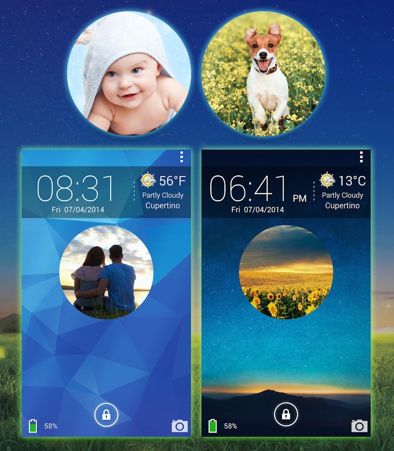 Galaxy Photo Screen Lock - screenshot