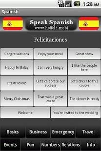 Speak Spanish!- screenshot thumbnail