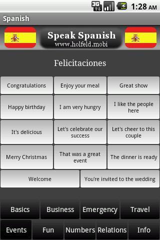 Speak Spanish!- screenshot