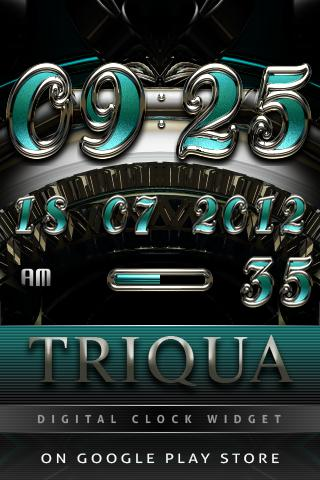 TRIQUA Luxury Clock Widget - screenshot