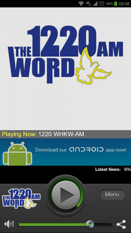 1220 WHKW-AM - screenshot