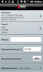 Eagle CU Mobile Banking Phone- screenshot thumbnail