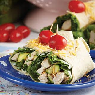 Grilled Chicken & Zucchini Wraps.