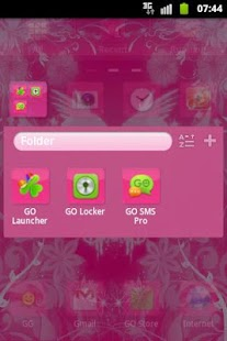 GO Launcher Theme Pink Hearts- screenshot thumbnail