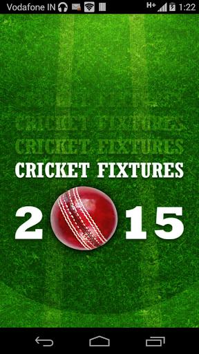 Cricket Fixtures 2015