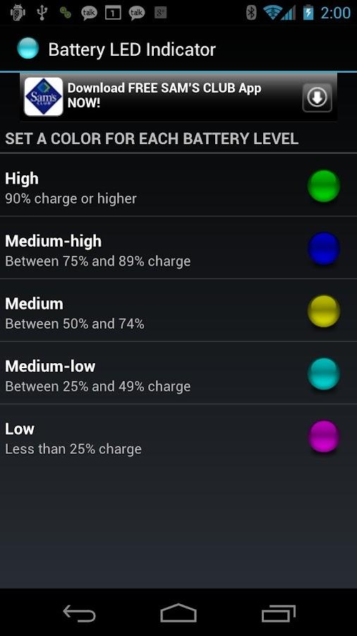 Battery LED Indicator- screenshot
