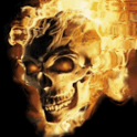 Skull In Fire Live Wallpaper icon