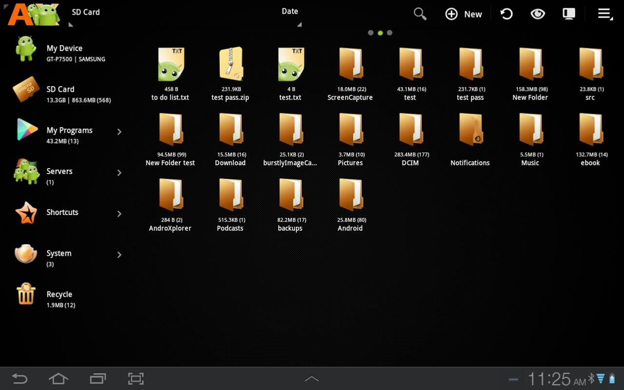 AndroXplorer Pro File Manager - screenshot
