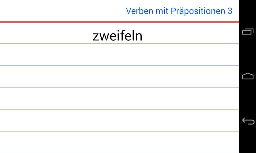 Verbos y preposiciones Alemán