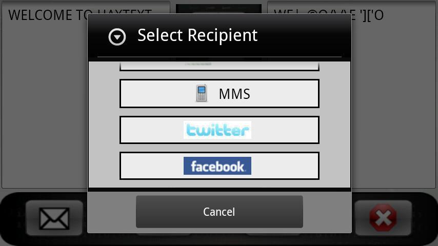 Hax Text: Leet SMS Encoder- screenshot