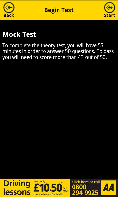 AA Theory Test for Car Drivers- screenshot