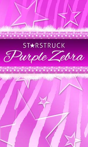 Purple Polka Dot Zebra Go SMS