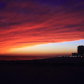 End of the Day by Angela Wescovich - Landscapes Weather ( clouds, biloxi, sunset, weather, beach, waterfront,  )