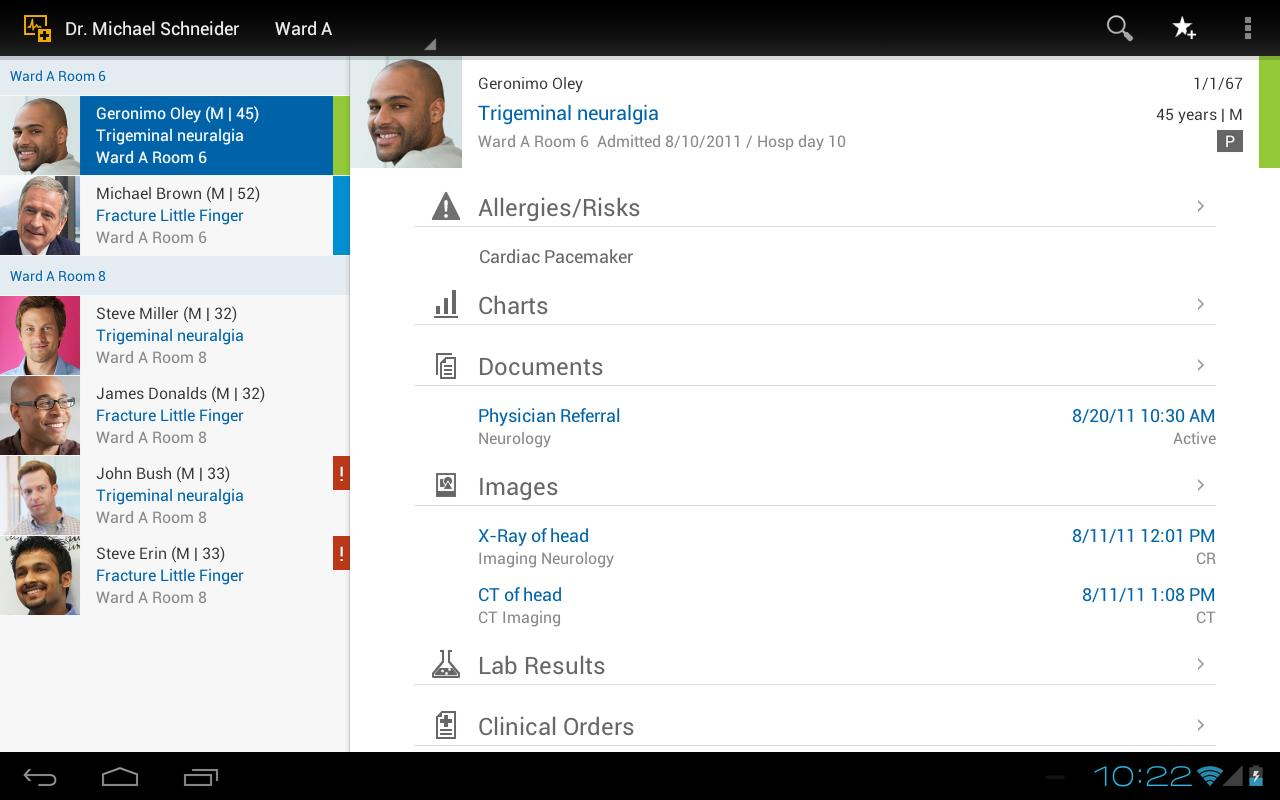 SAP Electronic Medical Record - screenshot
