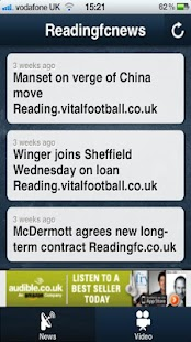 Reading FC News APP - screenshot thumbnail