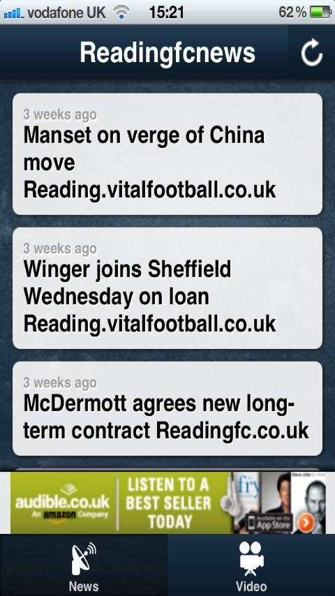 Reading FC News APP - screenshot