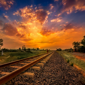 Tracks to the sky by Liquid Lens - Landscapes Sunsets & Sunrises