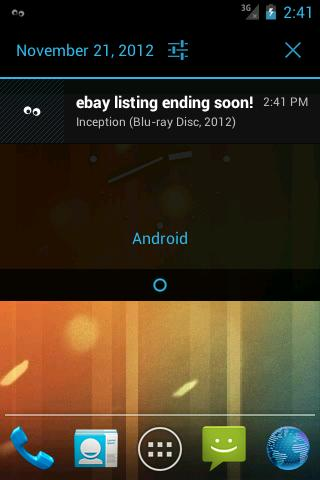 Notifier for ebay - screenshot