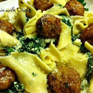Ricotta Florentine with Garlic Chicken Meatballs