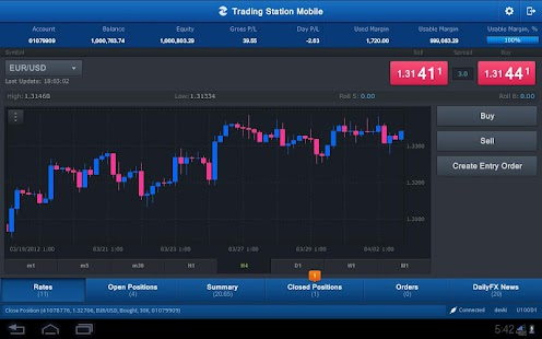 FXCM Trading Station Tablet - screenshot thumbnail