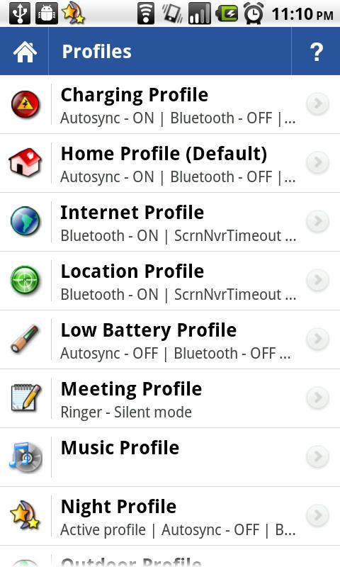 Toggle Settings|Profiles Lite - screenshot