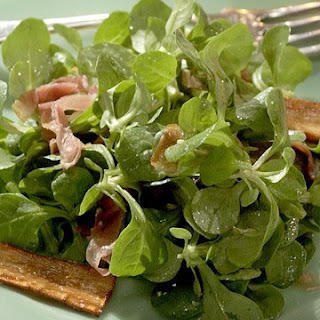 Mache, Prosciutto, and Parsnip Salad