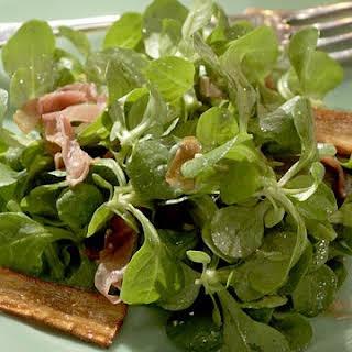 Mache, Prosciutto, and Parsnip Salad.