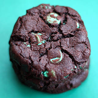 Chocolate Mint Chip Cookies.