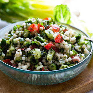 Cucumber and Israeli Couscous Salad.