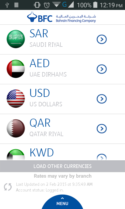 Bfc forex rates