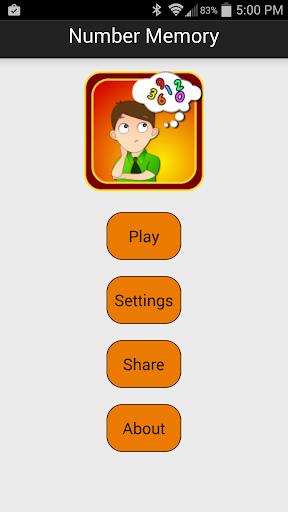 Number Memory - Memory game