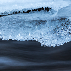 Nature''s heart by Iulia Georgescu - Nature Up Close Water ( water, winter, heart shape, ice, frozen, river )