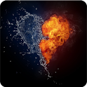 Magic Effect Water Fire Heart icon