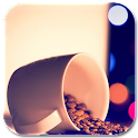 coffee cup lock & wallpaper icon