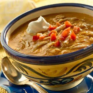 Roasted Poblano & Corn Soup.