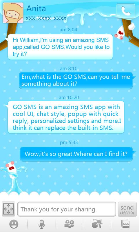 GO SMS Pro Termite ThemeEX - screenshot