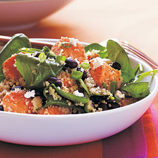 Couscous, Sweet Potato, and Black Soybean Salad.
