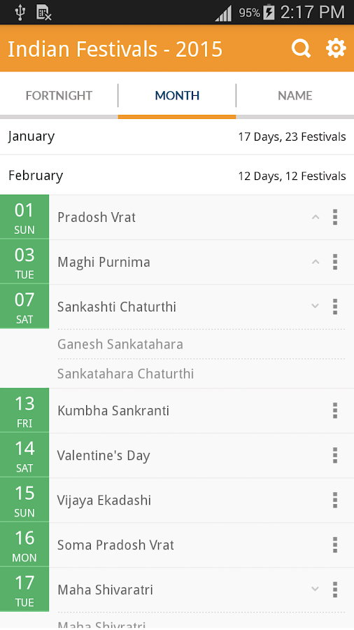 Indian Festivals - 2015 - screenshot