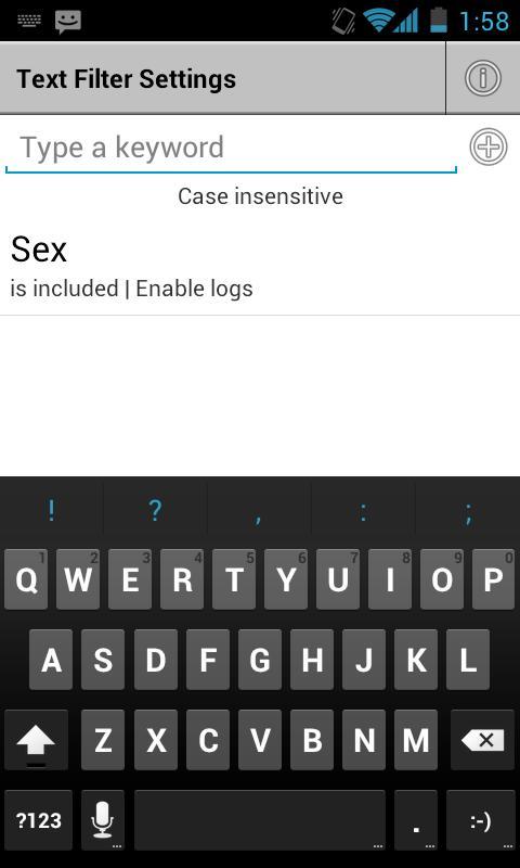 DroidMate Call Filter- screenshot