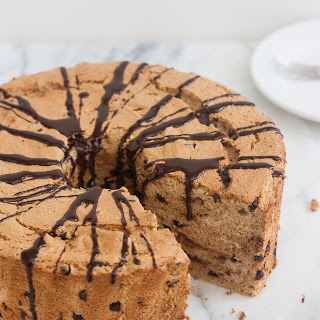 Mocha Chocolate Chip Angel Food Cake