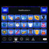 Emoji Keyboard+ Sapphire Theme
