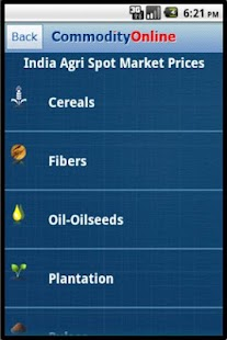 Commodity Spot Prices In India - screenshot thumbnail