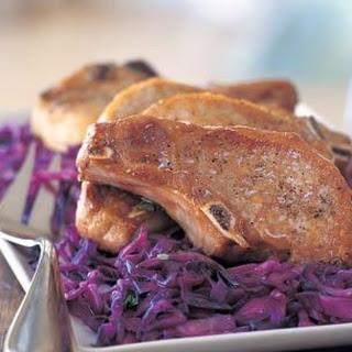 Pork Chops with Cider Glaze.