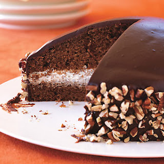 Chocolate-Honey Dome Cake with Chocolate-Honey Glaze.